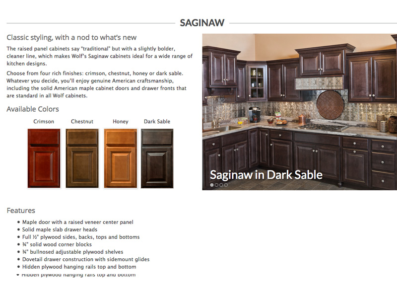 Wolf Cabinet Line  Products Of Direct Renovations Kitchen And Bathroom  Cabinets